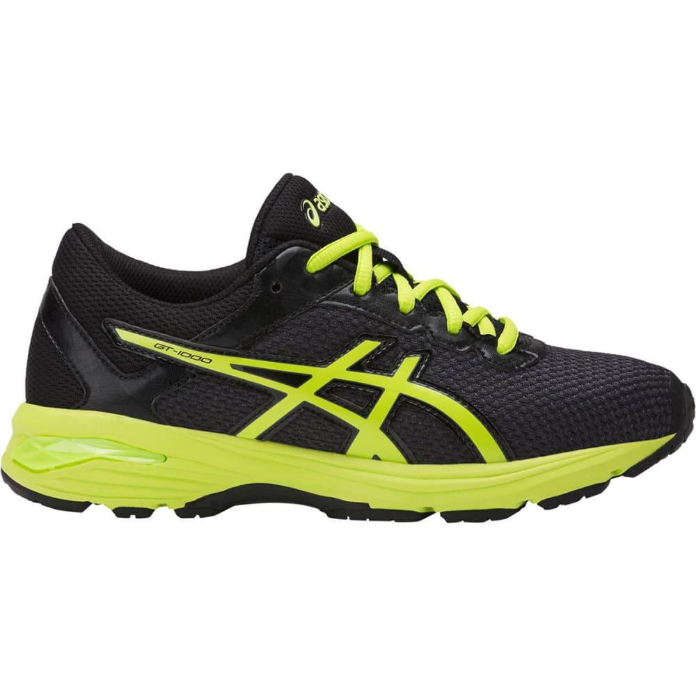 ASICS Boys' GT-1000 6 GS Running Shoes, Black/Energy Green/Silver - BLACK