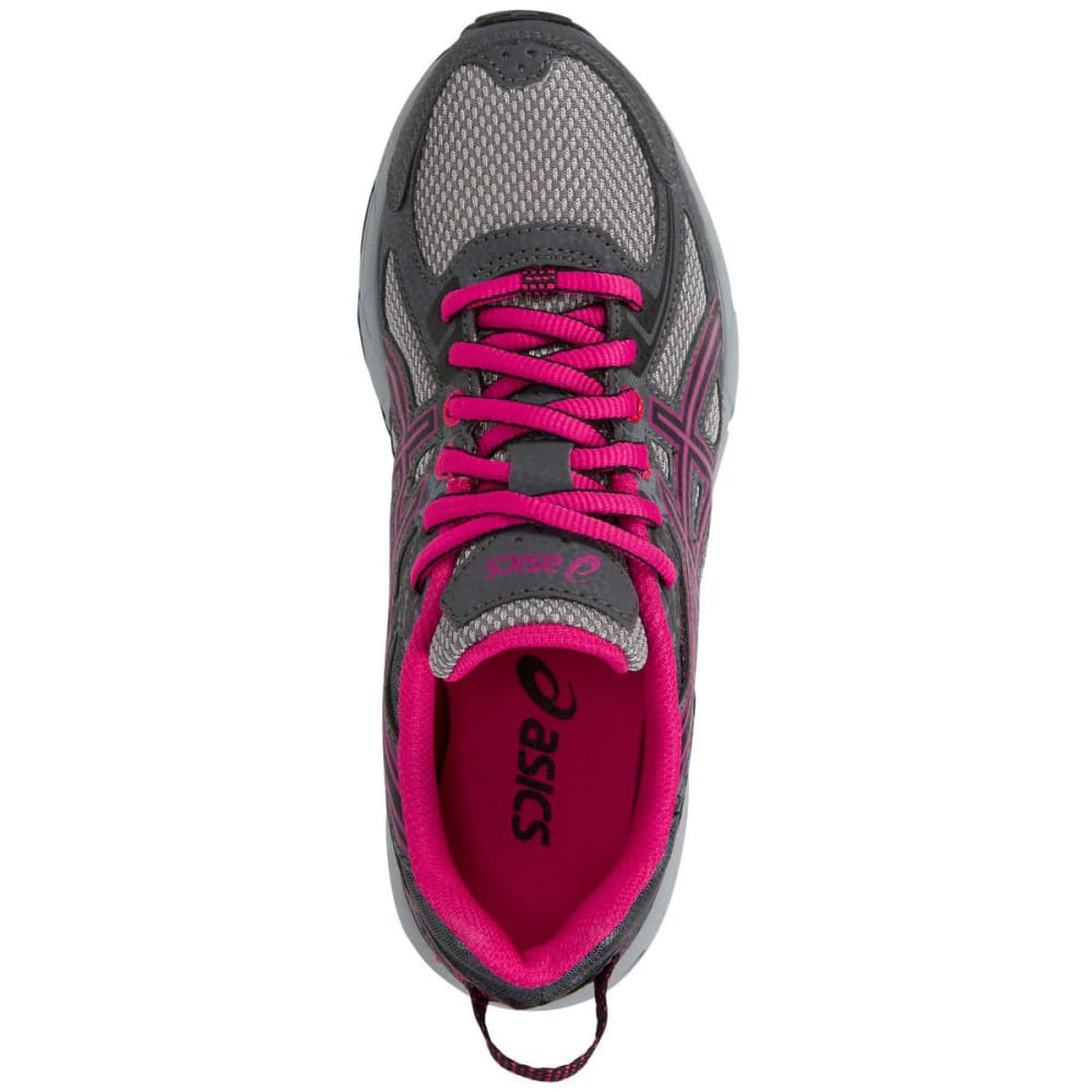 ASICS Girls' GEL-Venture 6 GS Running Shoes, Carbon/Black/Sport Pink - GREY