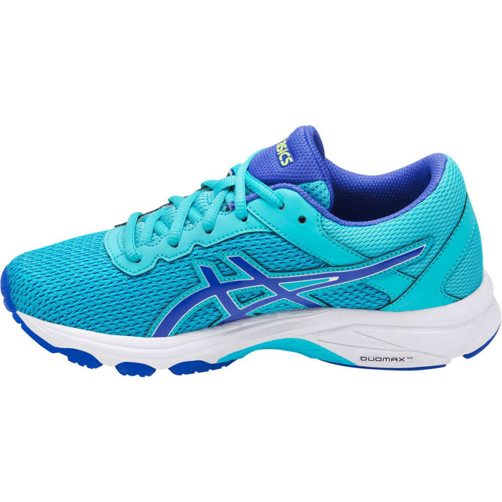 ASICS Girls' GT-1000 6 GS Running Shoes, Aquamarine/Blue Purple/Neon Lime - TURQUOISE