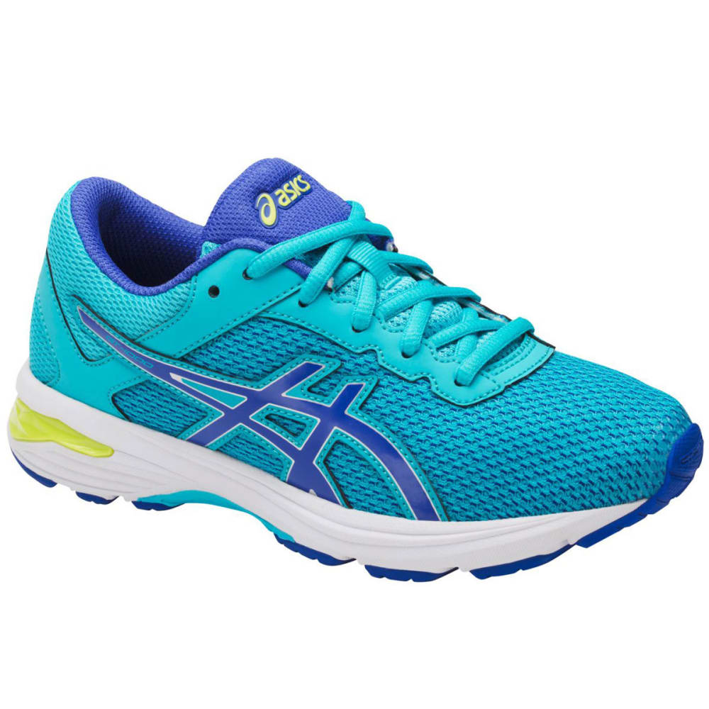 Asics Girls Gt-1000 6 Gs Running Shoes, Aquamarine/blue Purple/neon Lime