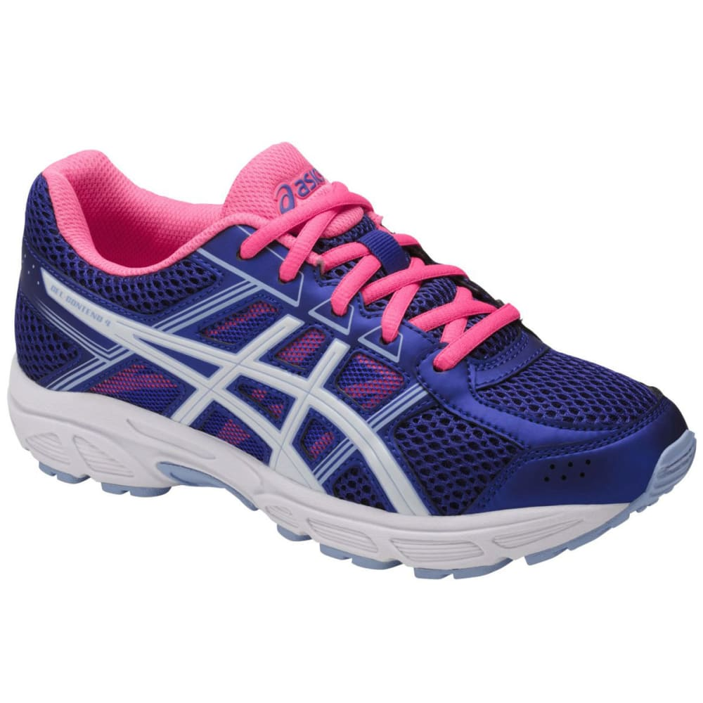 Asics Girls Grade School Gel-Contend 4 Running Shoes, Blue Purple/white/airy Blue