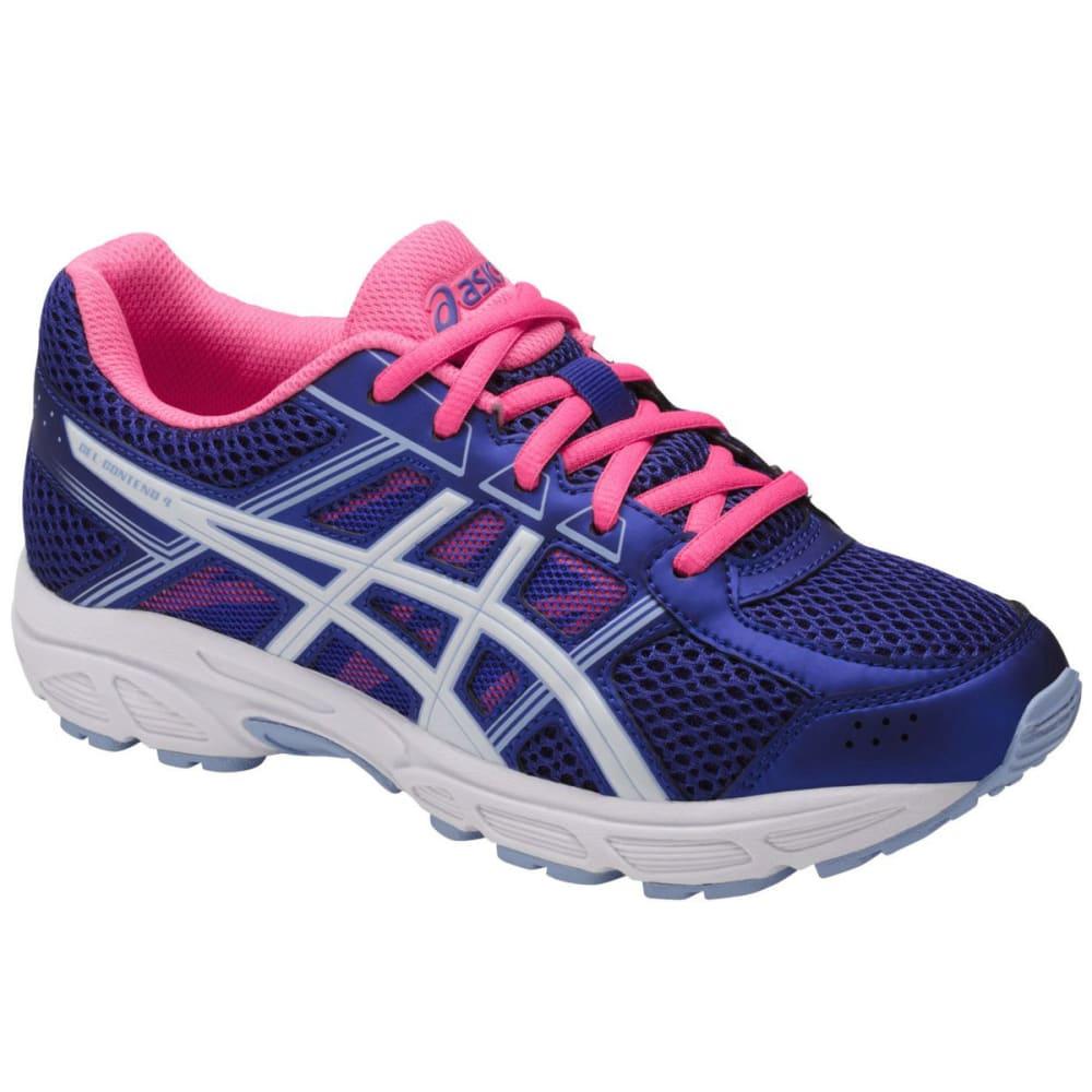 ASICS Girls' Grade School GEL-Contend 4 Running Shoes, Blue Purple/White/Airy Blue - BLUE PURPLE