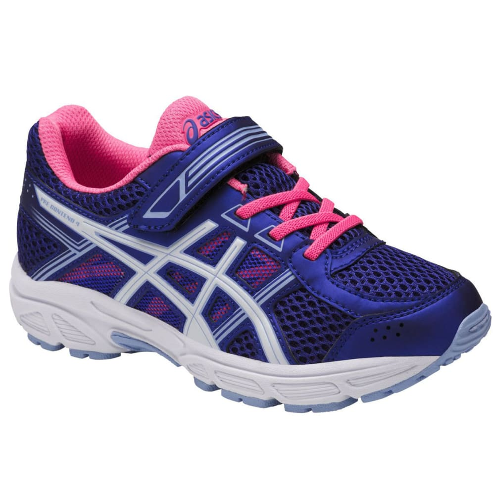 Asics Girls Pre-Contend 4 Ps Running Shoes, Blue Purple/white/airy Blue
