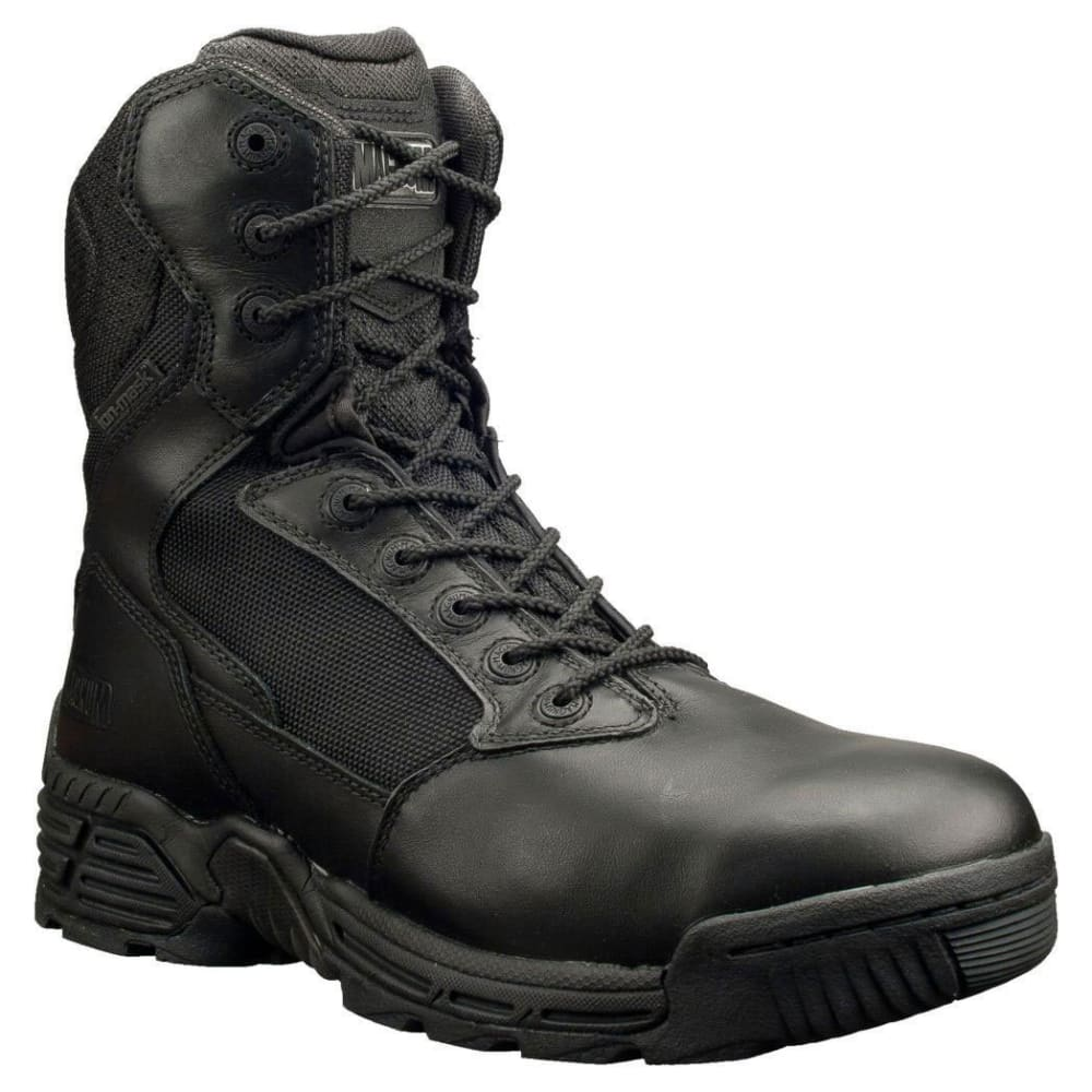 MAGNUM Men's 8 in. Stealth Force Side Zip Waterproof Composite Toe Work Boots, Wide - BLACK