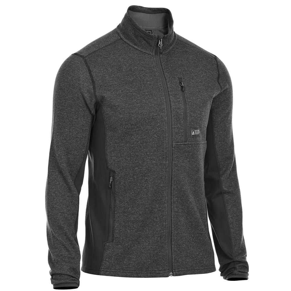 EMS® Men's Destination Hybrid Full-Zip Sweater Jacket - BLACK