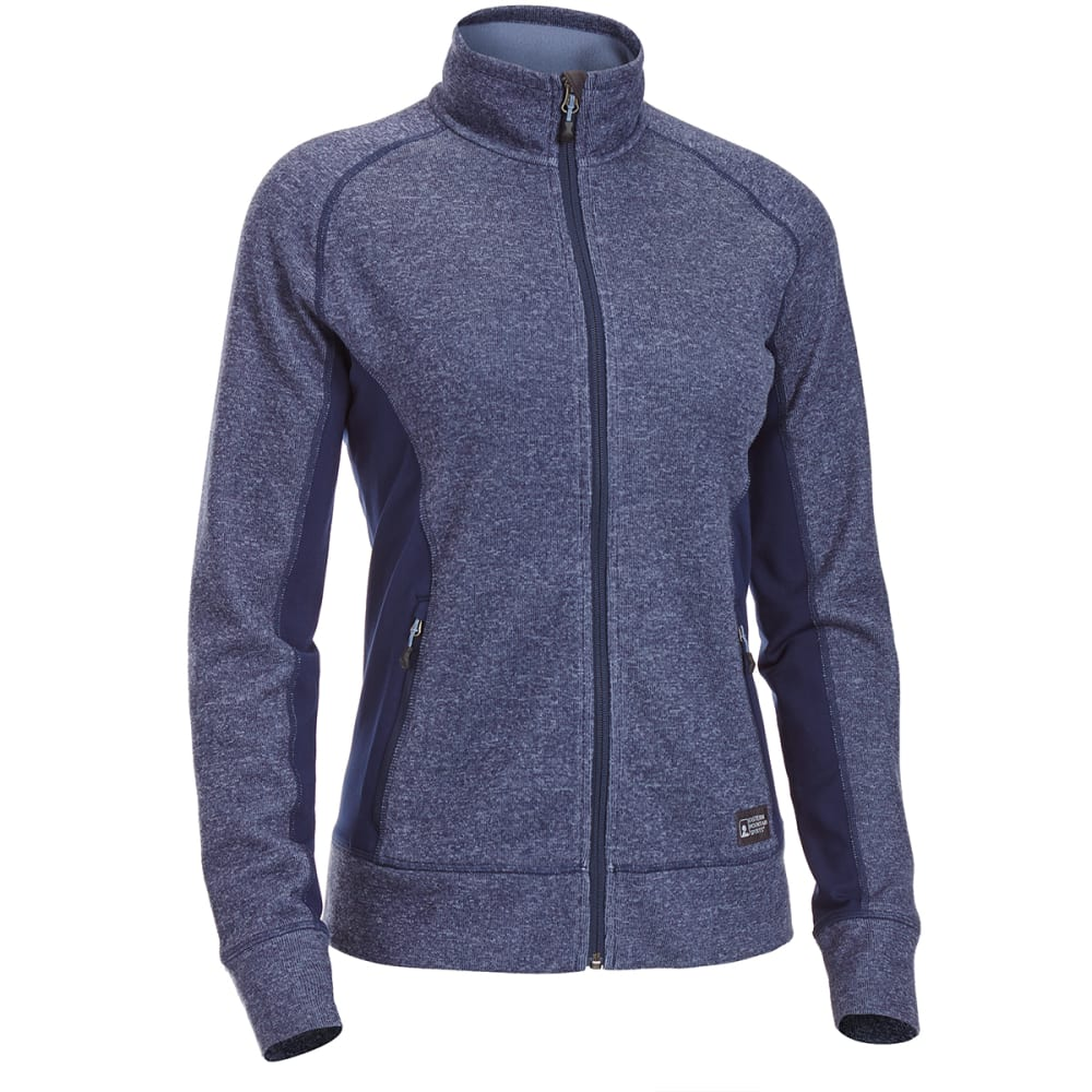 EMS Women's Destination Hybrid Full-Zip Sweater Jacket - BLUE NIGHTS
