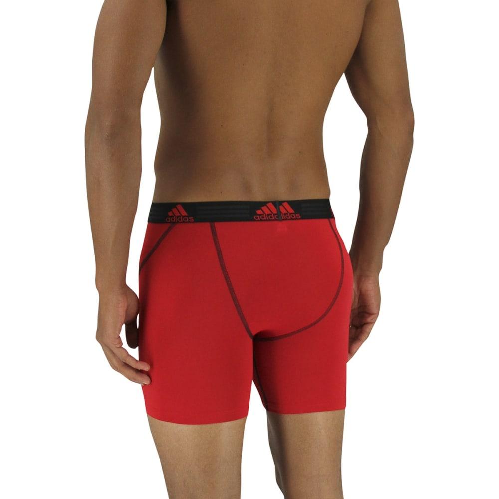 ADIDAS Men's Climalite Sport Performance Boxer Briefs - BLACKRED
