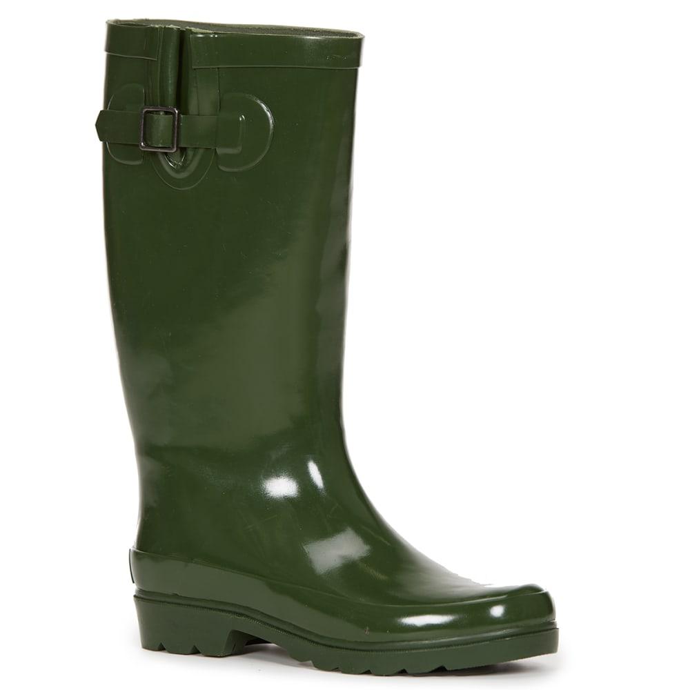 SUGAR Women's Robby Gusset Rainboots, Green - GREEN