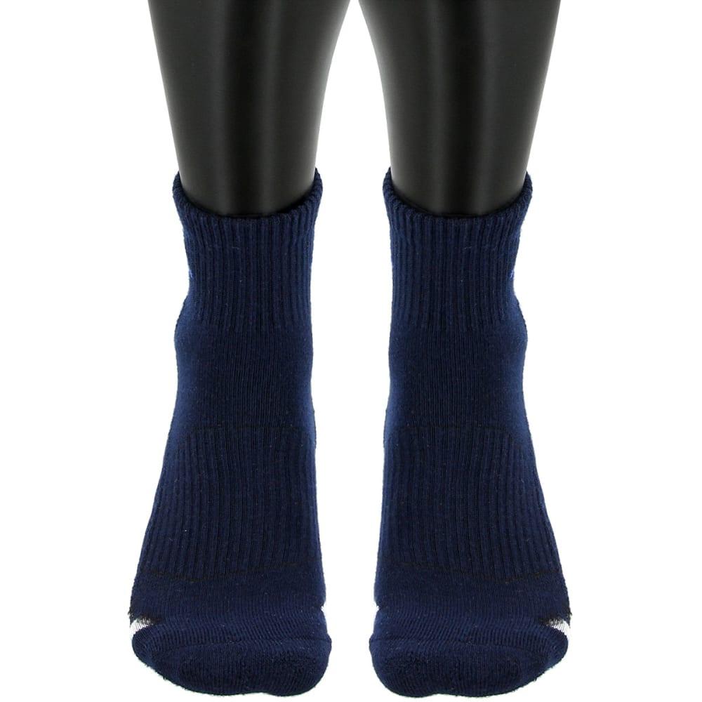 ADIDAS Men's Cushioned Color Quarter Socks, 3-Pack - NAVY/WHTGREY/ASST