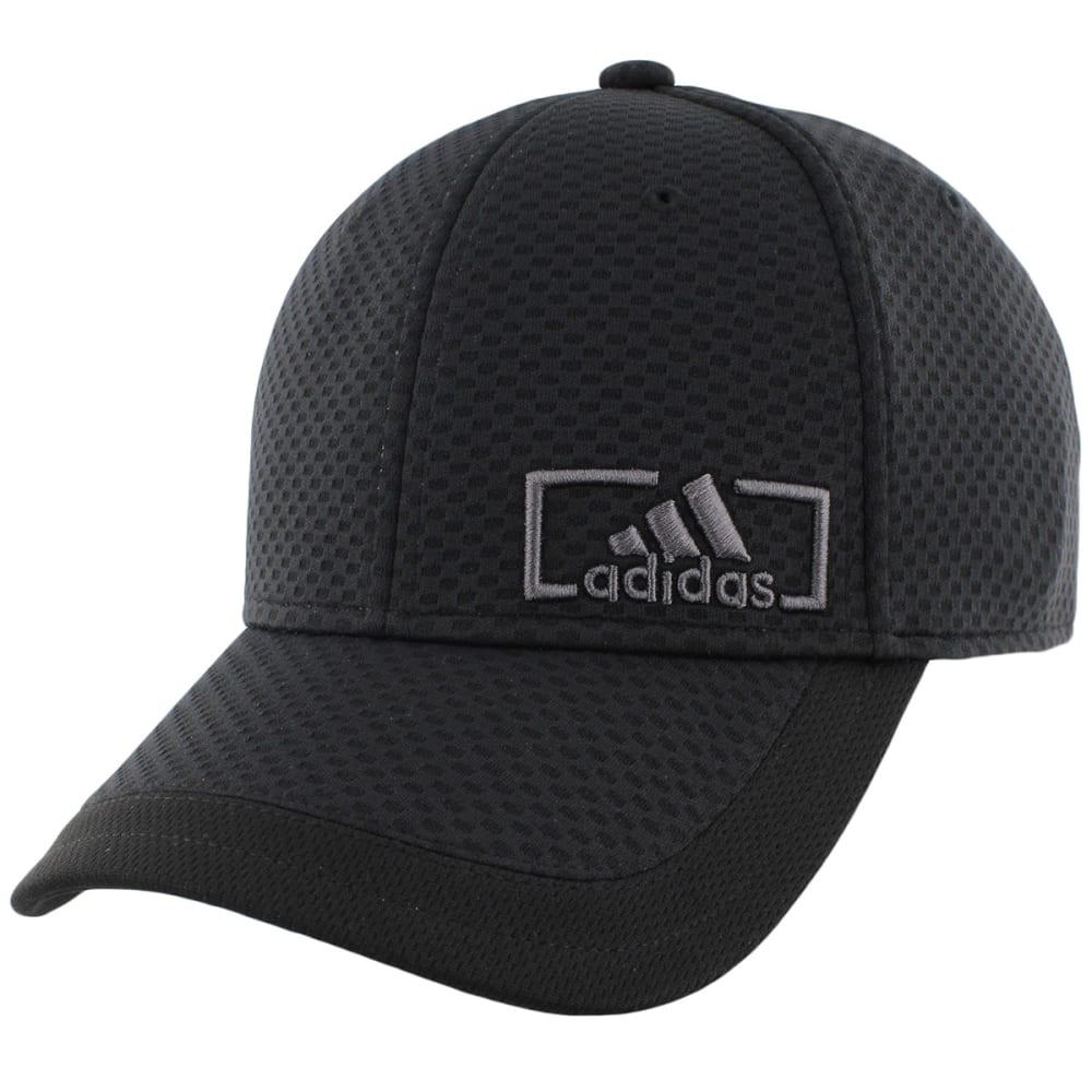 ADIDAS Men's Amplifier Stretch Fit Cap - BLACK/WHITE