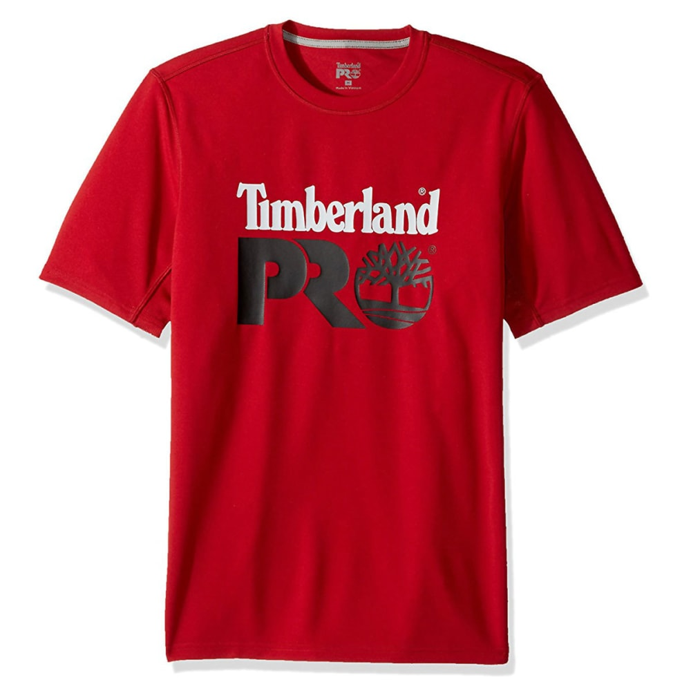 TIMBERLAND PRO Men's Wicking Good Logo Short-Sleeve Tee - G98 CLASSIC RED