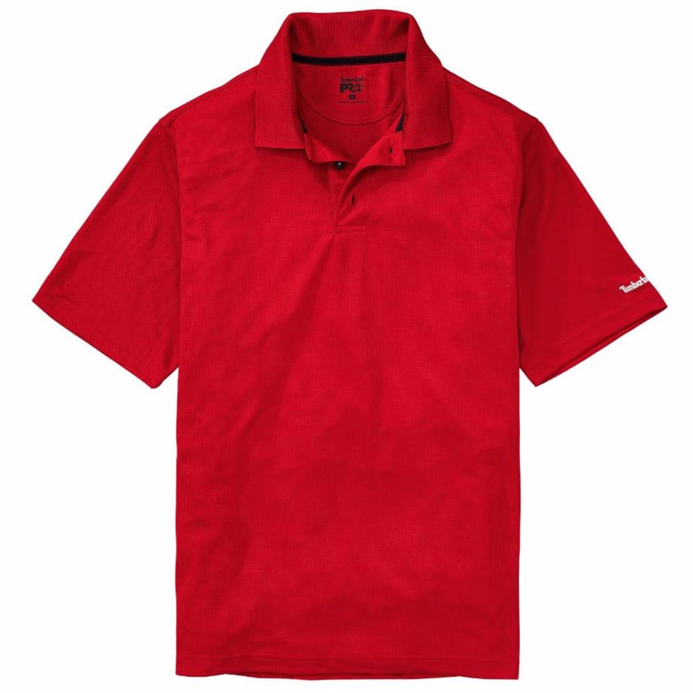 TIMBERLAND PRO Men's Meshin' Around Polo Short-Sleeve Shirt - G98 CLASSIC RED