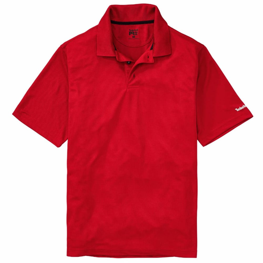 Timberland Pro Men's Meshin' Around Polo Short-Sleeve Shirt - Red, L