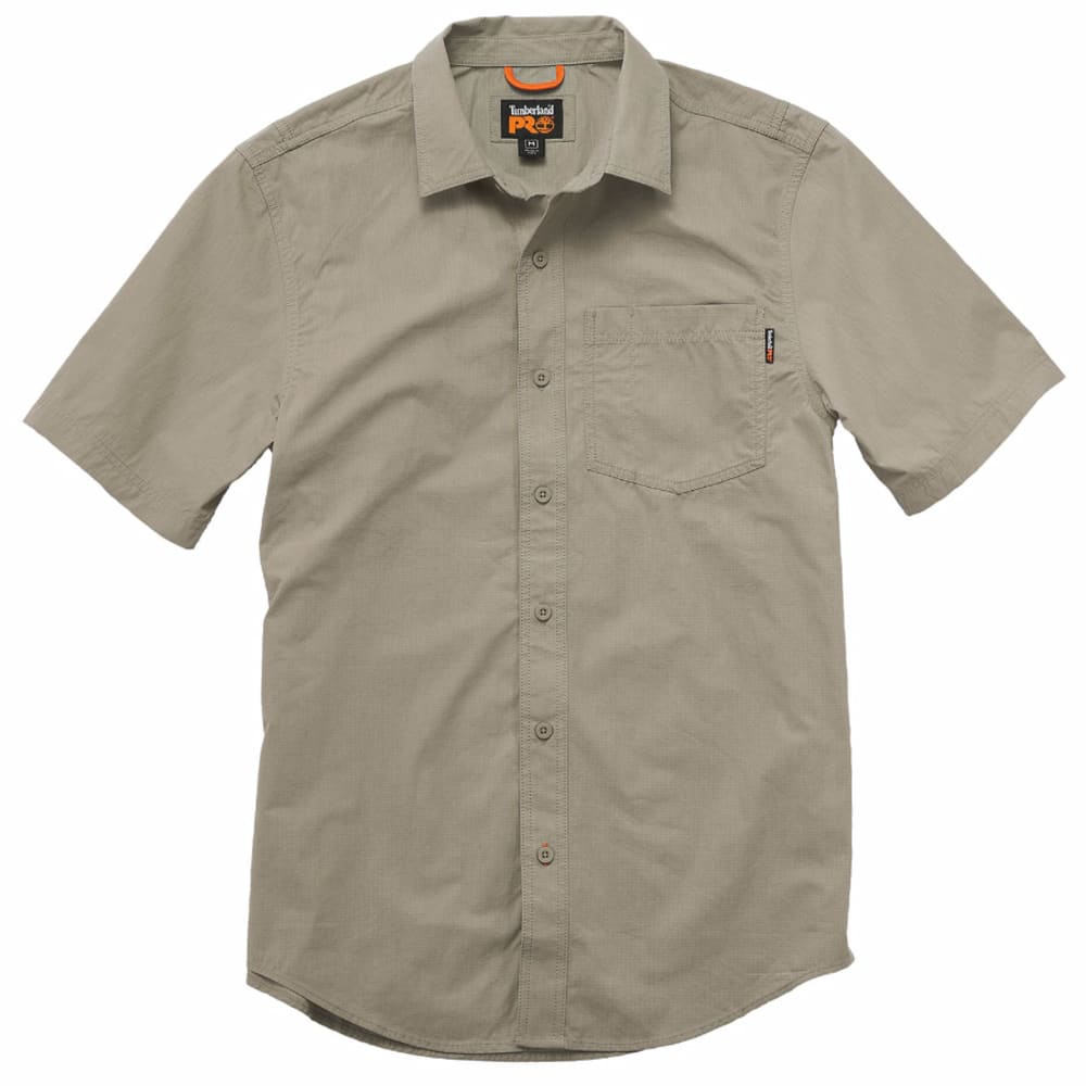 TIMBERLAND PRO Men's Warrior Ripstop Woven Work Short-Sleeve Shirt - 278 SANDSTONE