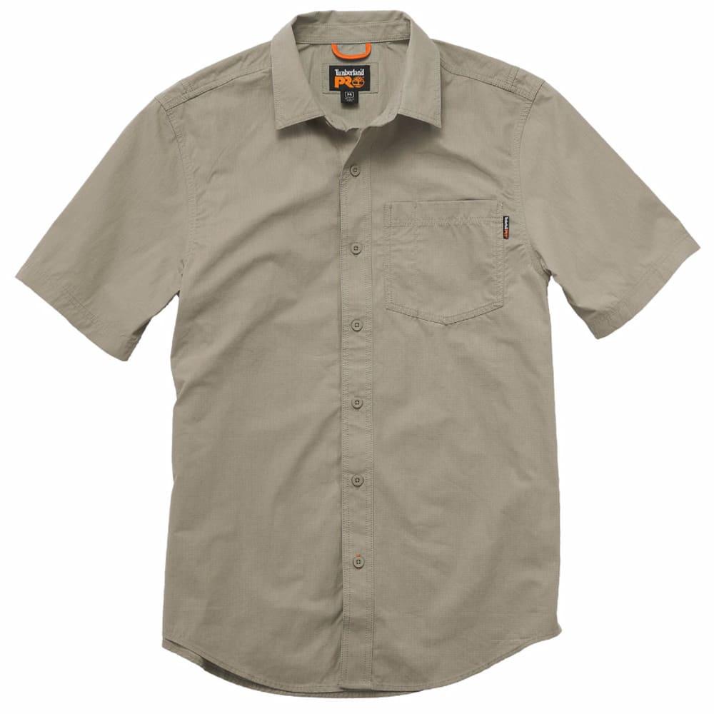 TIMBERLAND PRO Men's Warrior Ripstop Woven Work Short-Sleeve Shirt - 278 SANDSTONE
