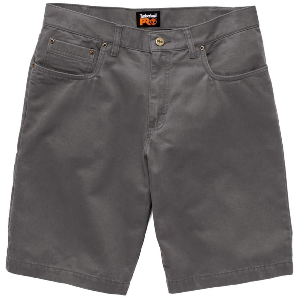 TIMBERLAND PRO Men's Son-of-a-Short Canvas Work Shorts - D97 GUNMETAL