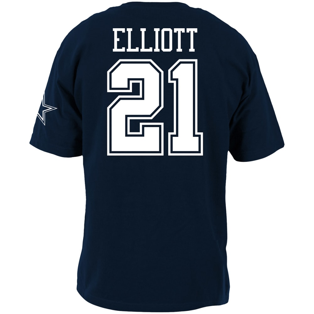 DALLAS COWBOYS Men's Ezekiel Elliott #21 Player Short-Sleeve Tee - NAVY