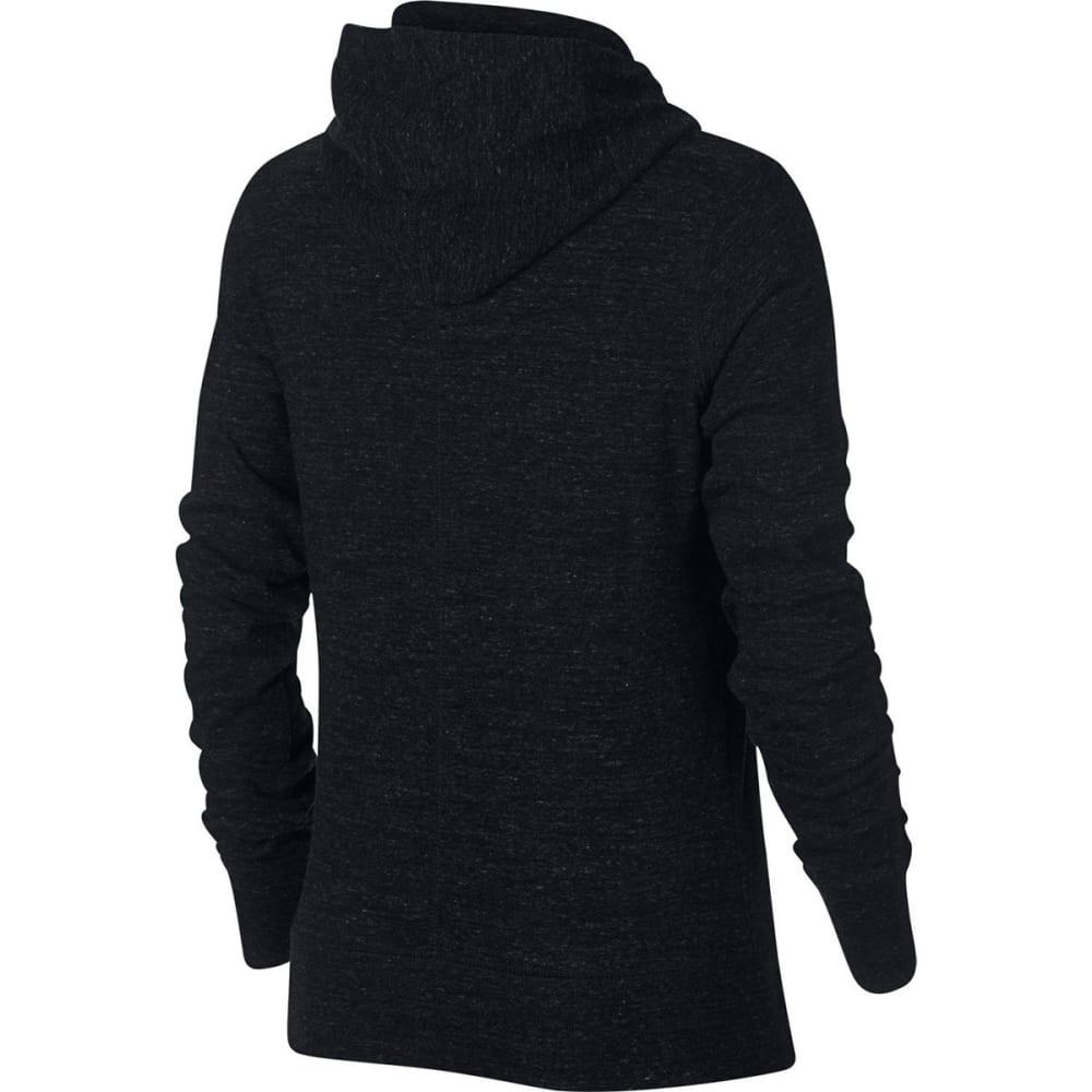 NIKE Women's Sportswear Gym Vintage Pullover Hoodie - BLACK/SAIL-010