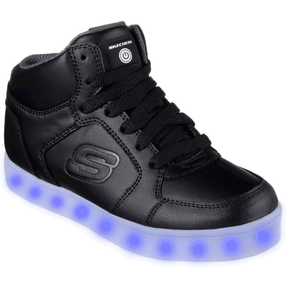SKECHERS Boys' S Lights: Energy Lights Sneakers, Black - BLACK