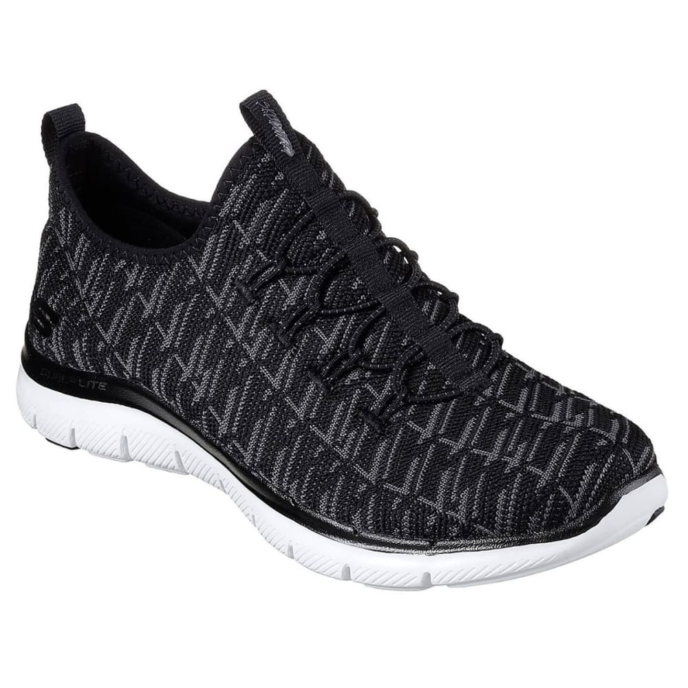SKECHERS Women's Flex Appeal 2.0 – Insights Sneakers, Black/Charcoal - BLACK/CHAR-BKCC