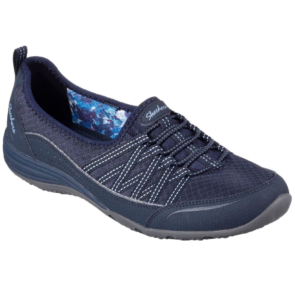 Skechers Women's Unity - Go Big Slip-On Sneakers, Navy - Blue, 7.5