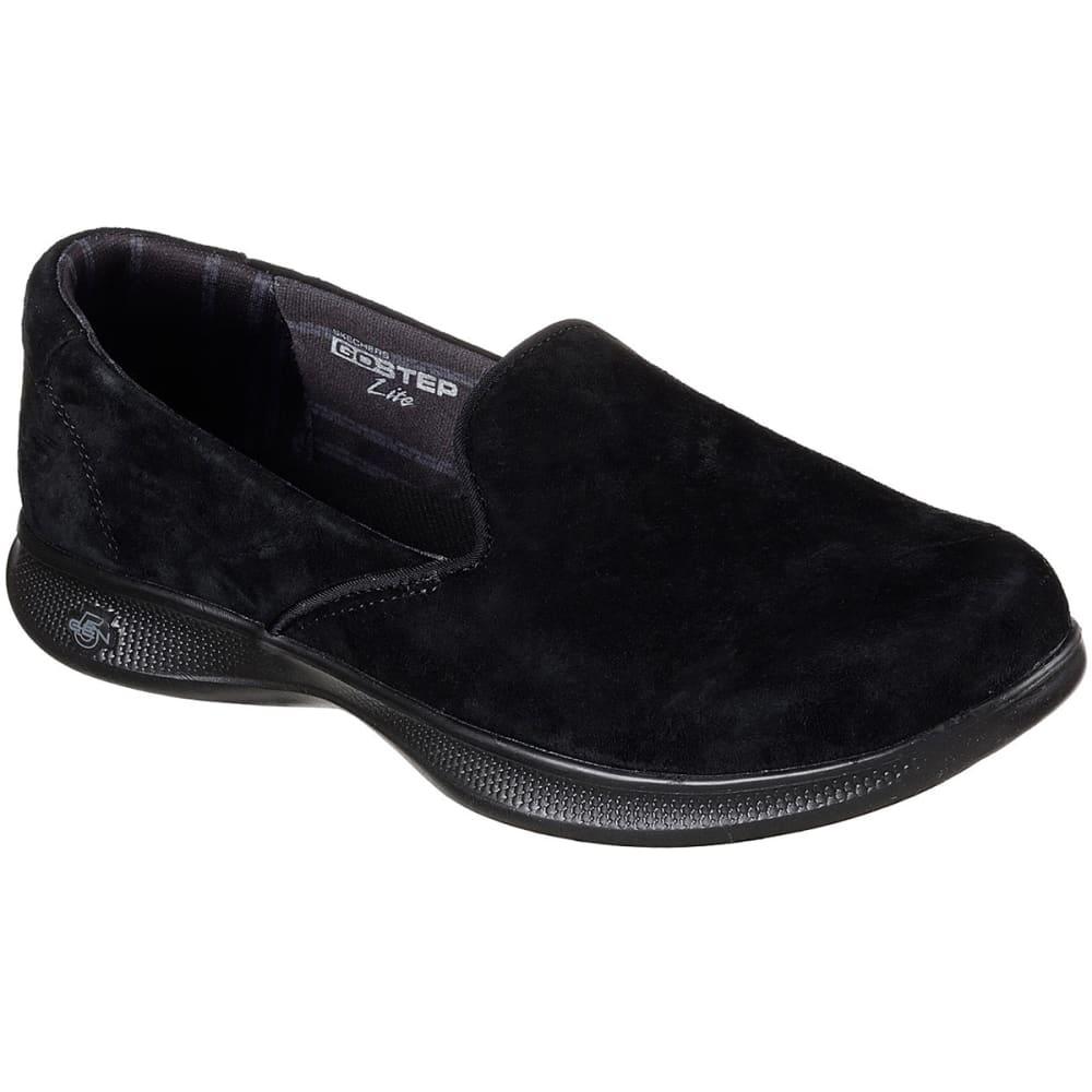 "SKECHERS Women's Go Step Lite """" Indulge Casual Slip-On Shoes, Black 6"