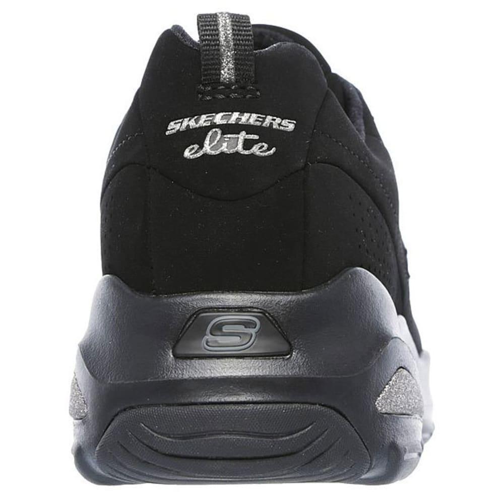 SKECHERS Women's D'Lites Ultra – Reverie Sneakers, Black - BLACK