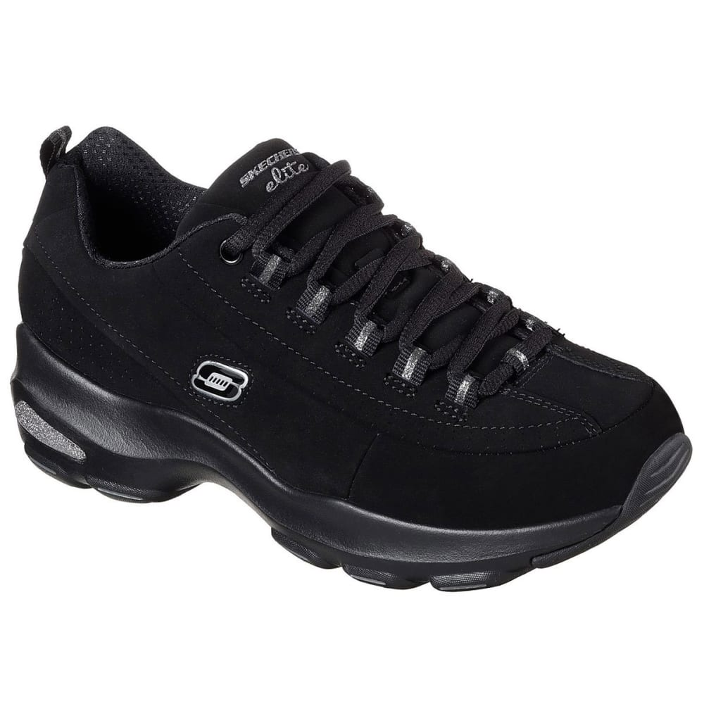 SKECHERS Women's D'Lites Ultra  Reverie Sneakers, Black - BLACK