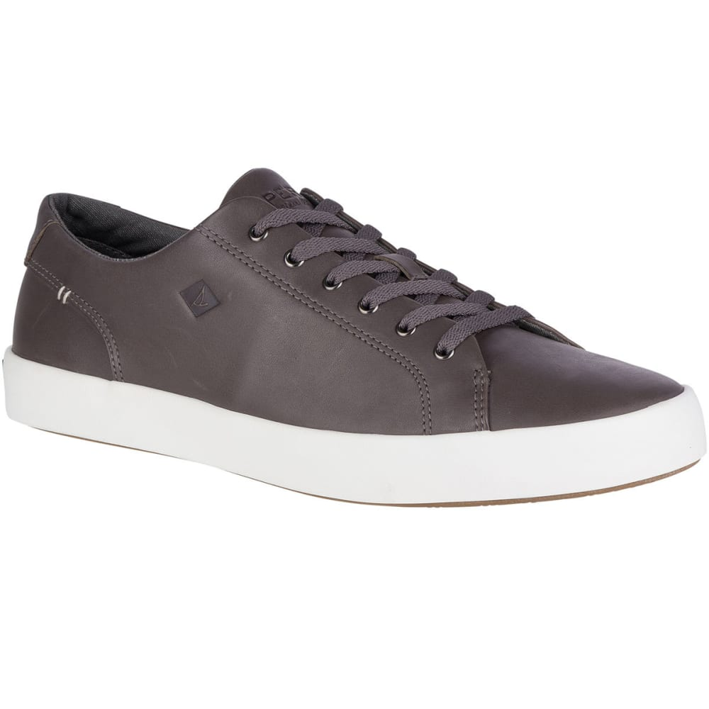 SPERRY Men's Wahoo LIT Leather Casual Shoes, Grey - GREY