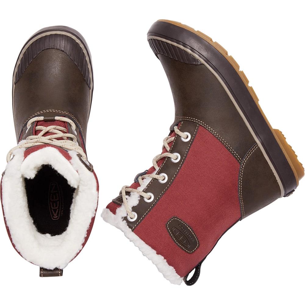 KEEN Women's Elsa Mid Waterproof Winter Boots, Syrah/Coffee Bean - SYRAH/COFFEE BEAN