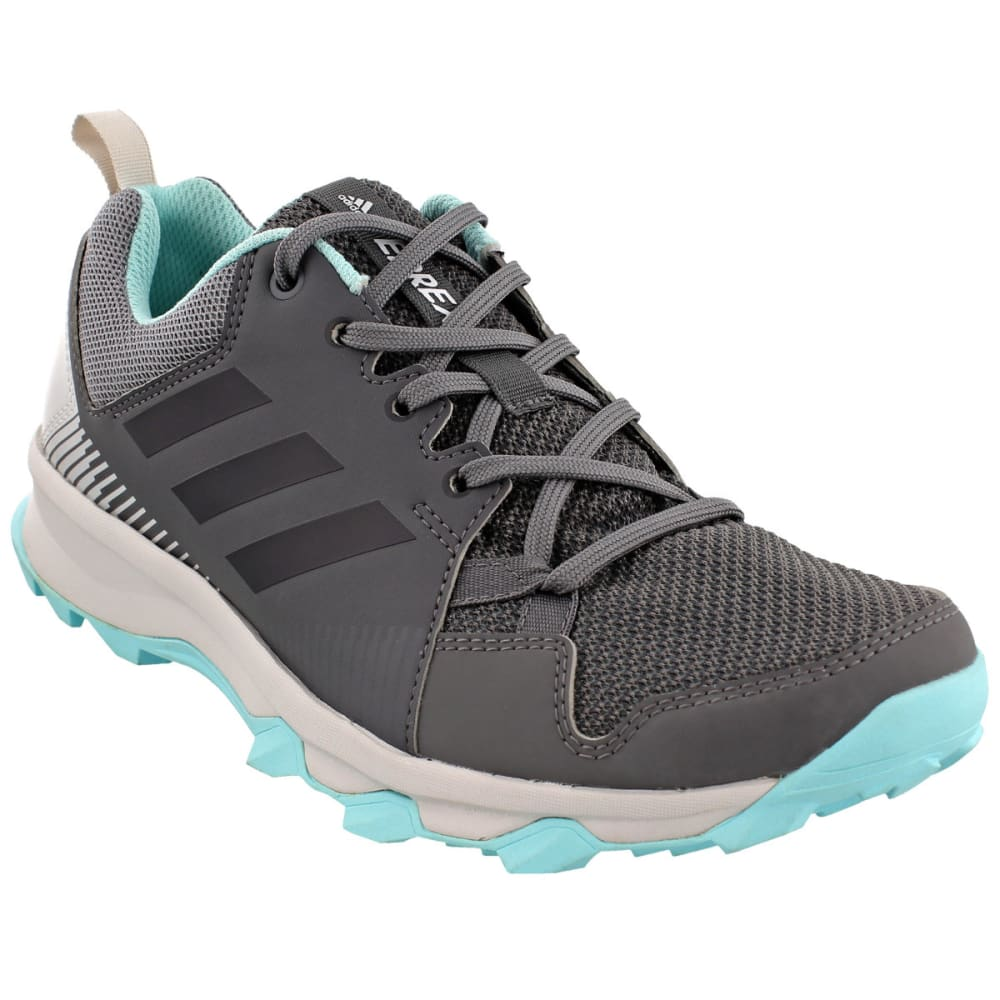 ADIDAS Women's Terrex Tracerocker Trail Running Shoes, Grey Five/Chalk White/Easy Coral 7.5