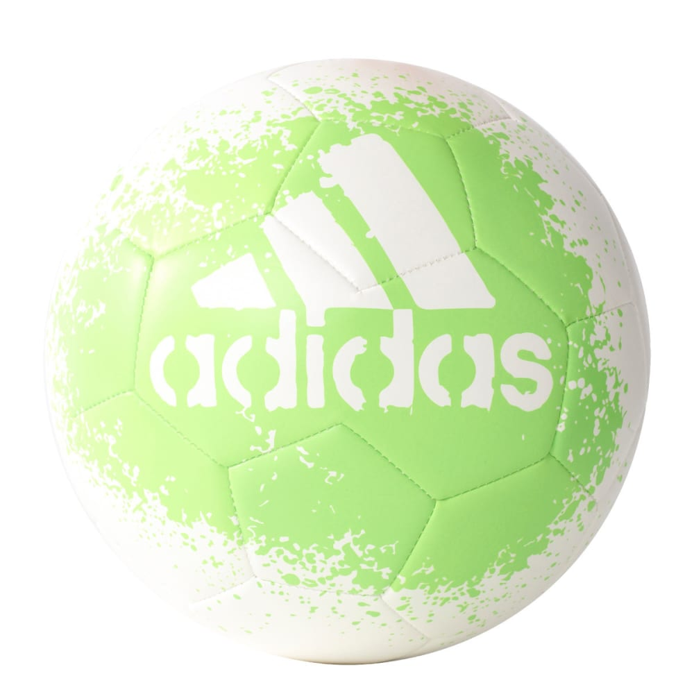 ADIDAS X Glider 2 Soccer Ball - WHITE/SOLAR GREEN