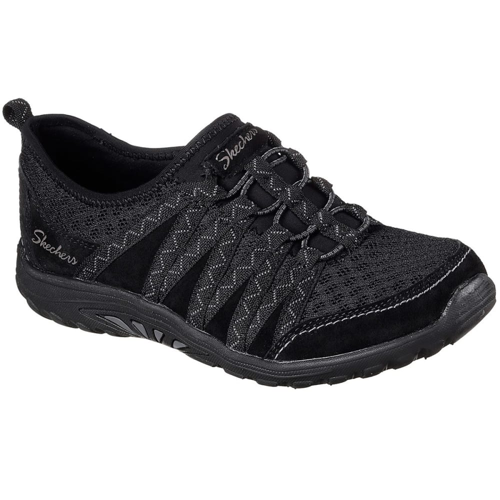 SKECHERS Women's Relaxed Fit: Reggae Fest – Big Adventure Casual Shoes, Black - BLACK