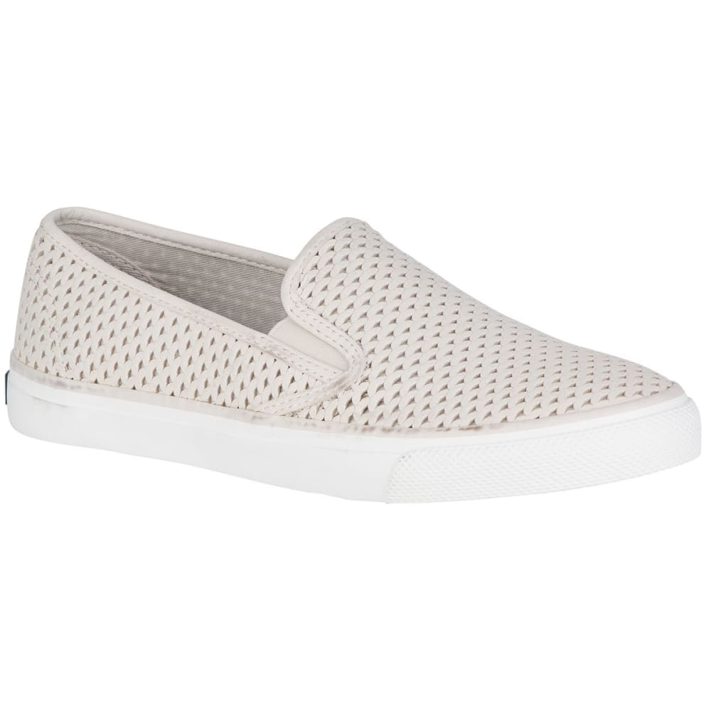 SPERRY Women's Seaside Scale Slip-On Sneakers, Off White - OFF WHITE