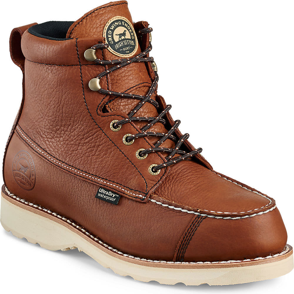 RED WING Men's 7 in. Irish Setter Wingshooter Waterproof Work Boots, Dark Brown - DARK BROWN