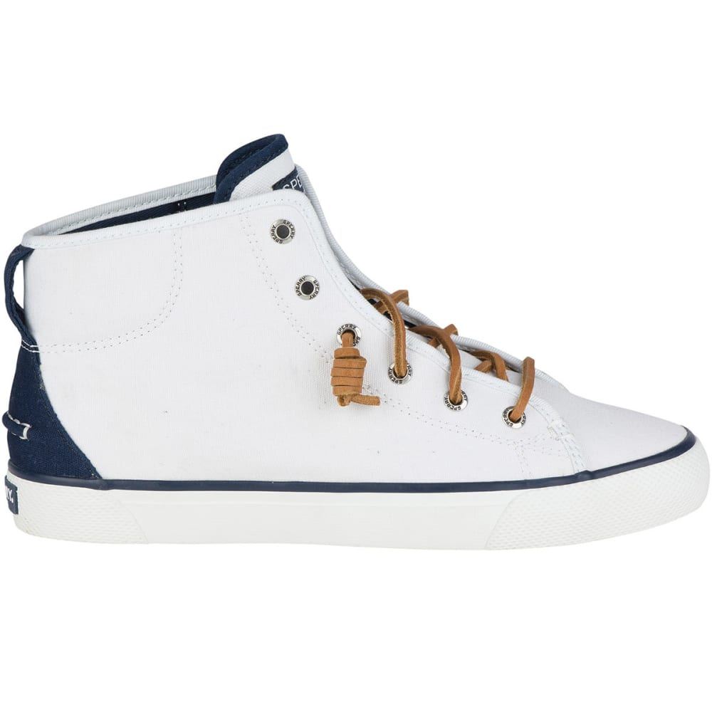 SPERRY Women's Seacoast Canyon High-Top Casual Shoes, White - CANYON WHITE