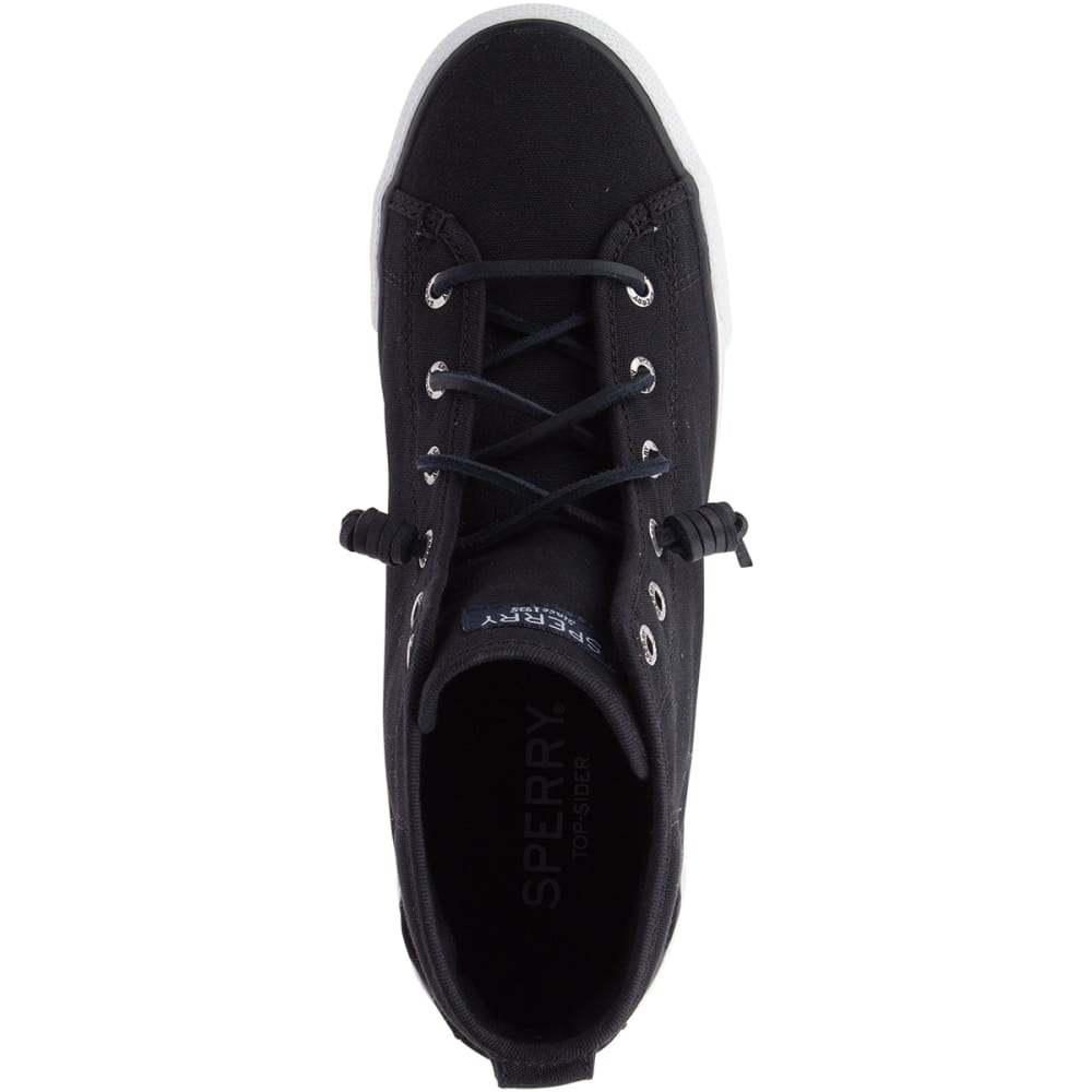SPERRY Women's Seacoast Canyon High-Top Boat Shoes, Black - CANYON BLACK