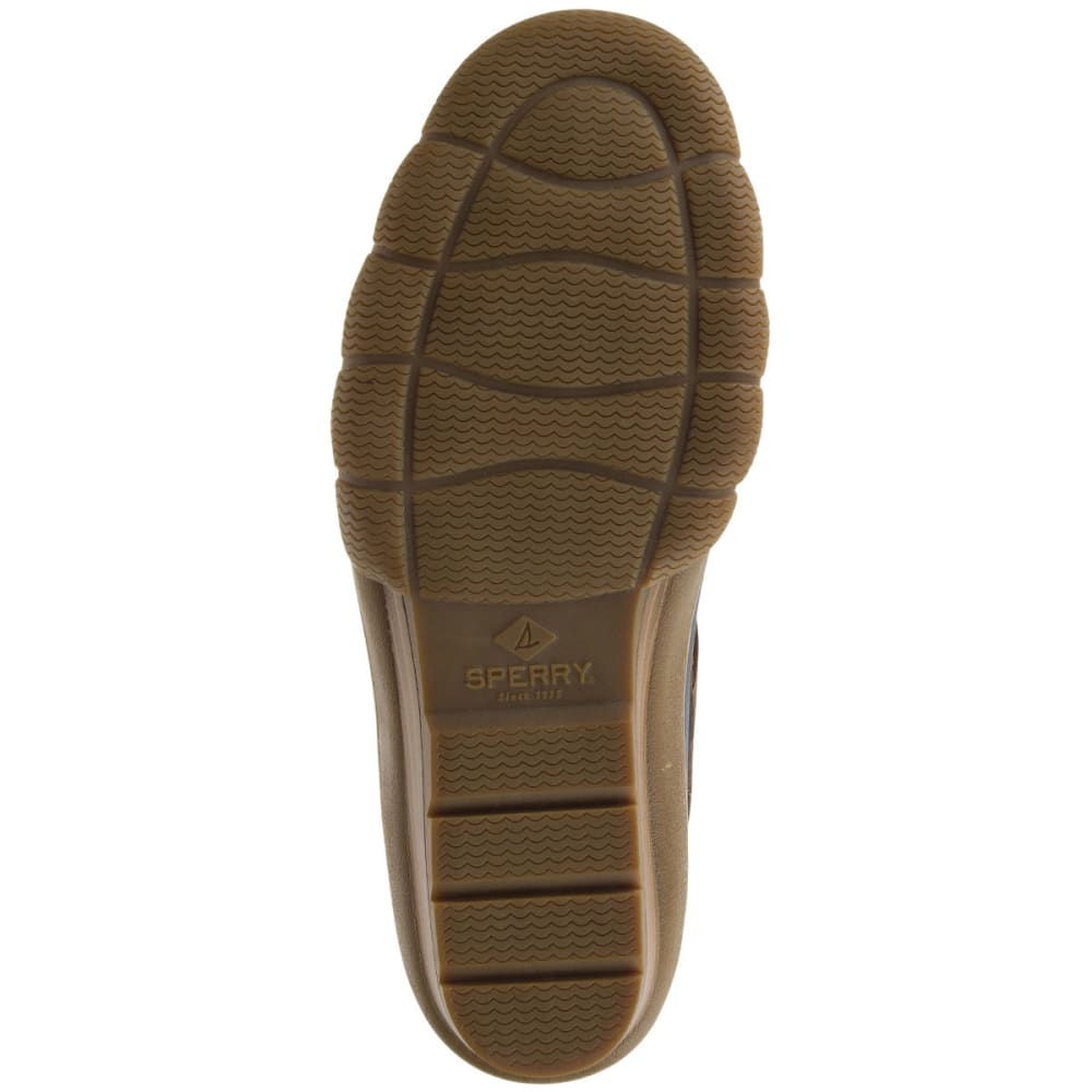 SPERRY Women's Saltwater Wedge Tide Waterproof Duck Boots, Navy/Tan - NAVY/TAN