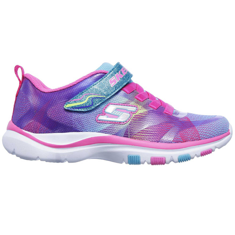 SKECHERS Girls' Trainer Lite - Dash N Dazzle Sneakers, Multi - MULTI