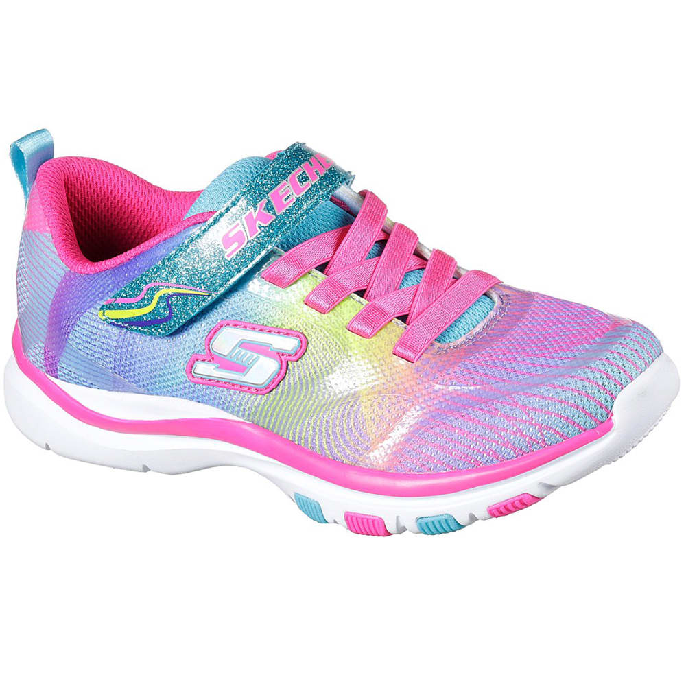 SKECHERS Girls' Trainer Lite - Dash N Dazzle Sneakers, Multi 1