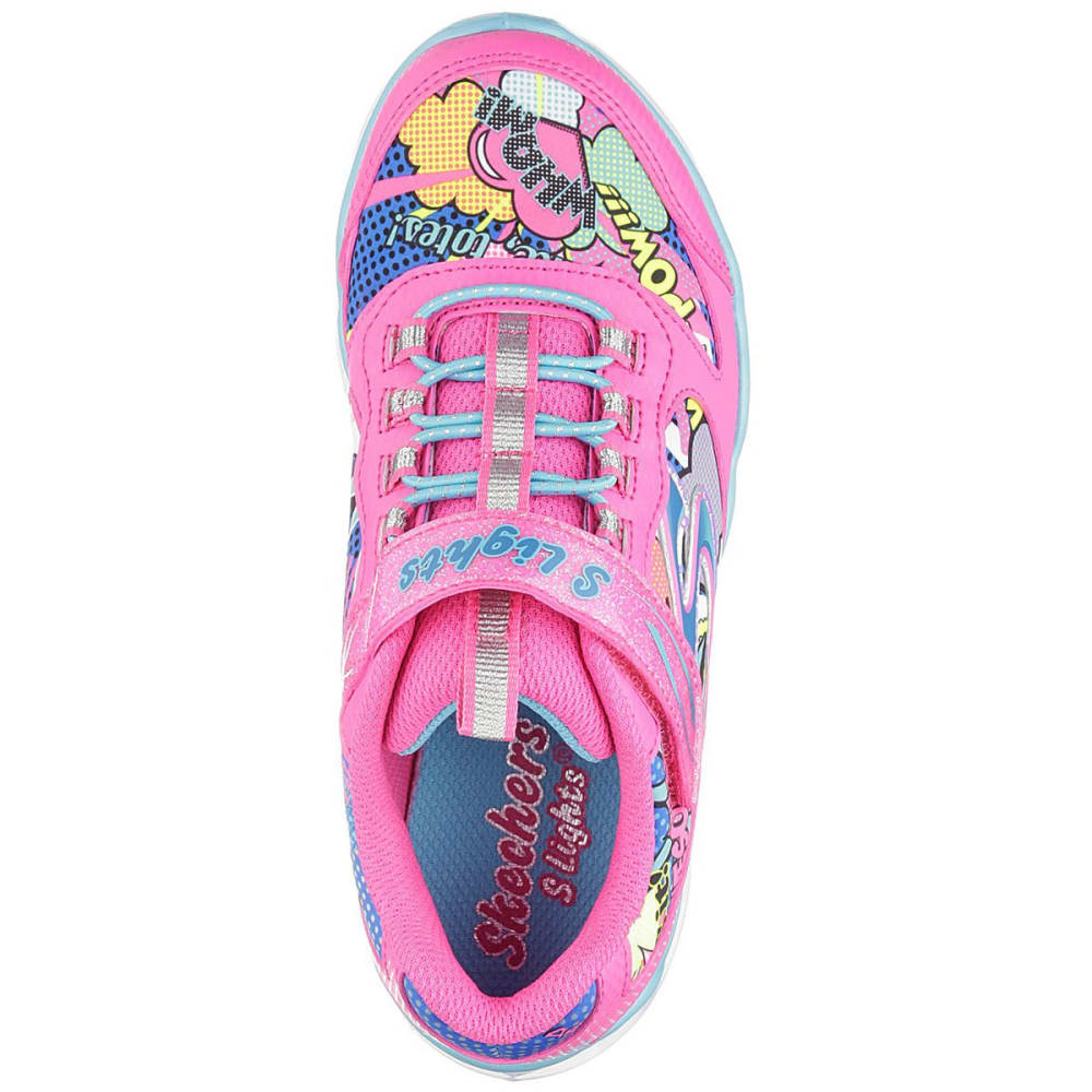 SKECHERS Girls' Lumi-Luxe Pop Art Print Sneakers - PINK