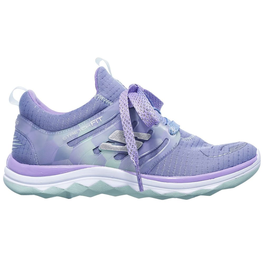 SKECHERS Girls' Grade School Diamond Runner Sneakers - GREY-GYLV