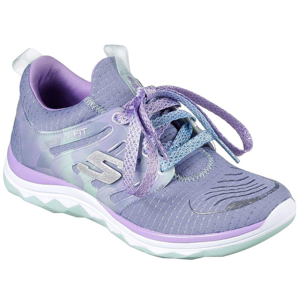 Skechers Girls' Grade School Diamond Runner Sneakers - Black, 4