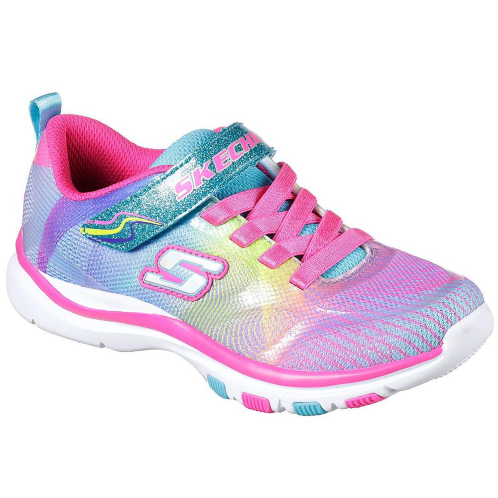 SKECHERS Toddler Girls' Trainer Lite - Dash N Dazzle Sneakers, Multi - MULTI
