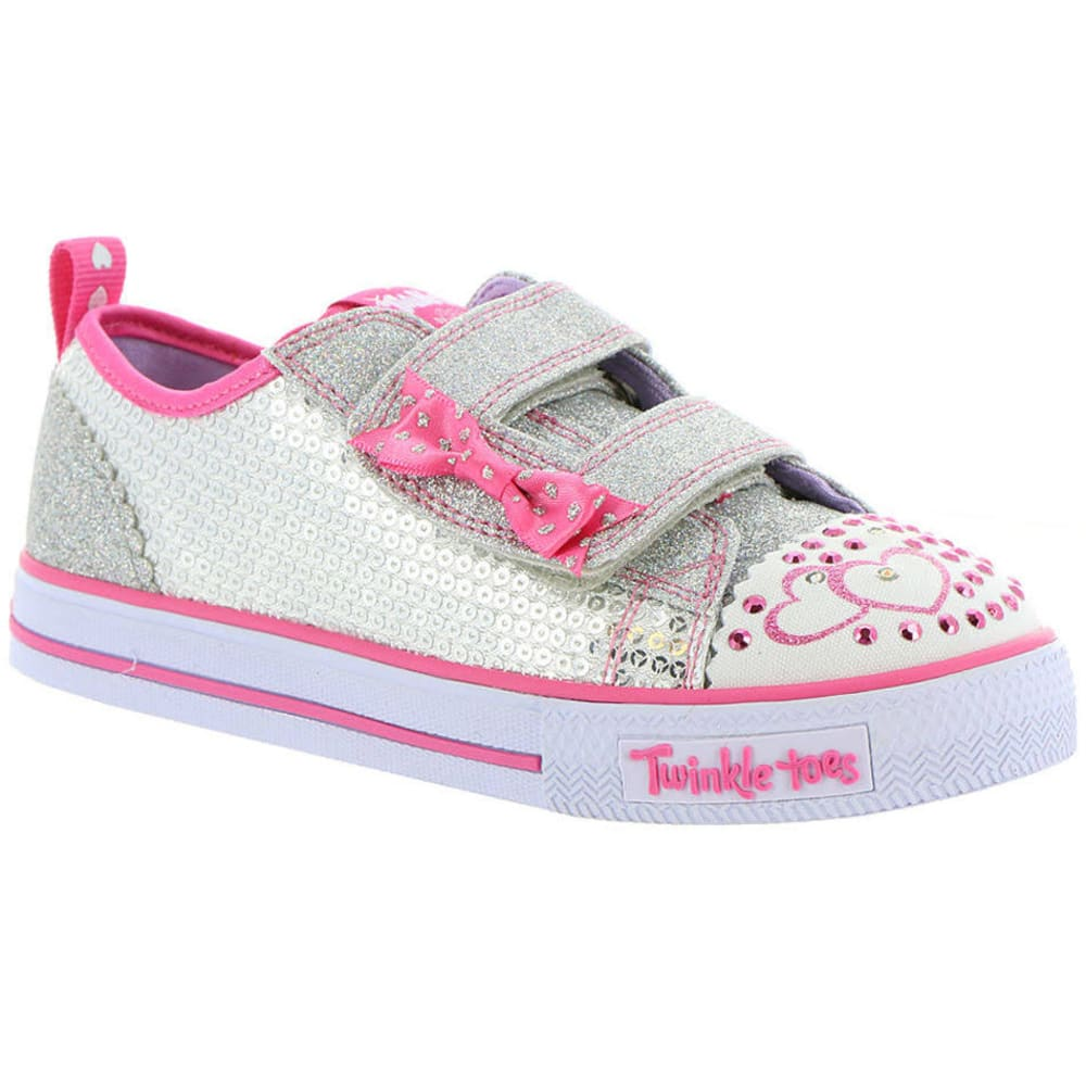 SKECHERS Infant Girls' Twinkle Toes: Shuffles - Itsy Bitsy Shoes, Grey 5