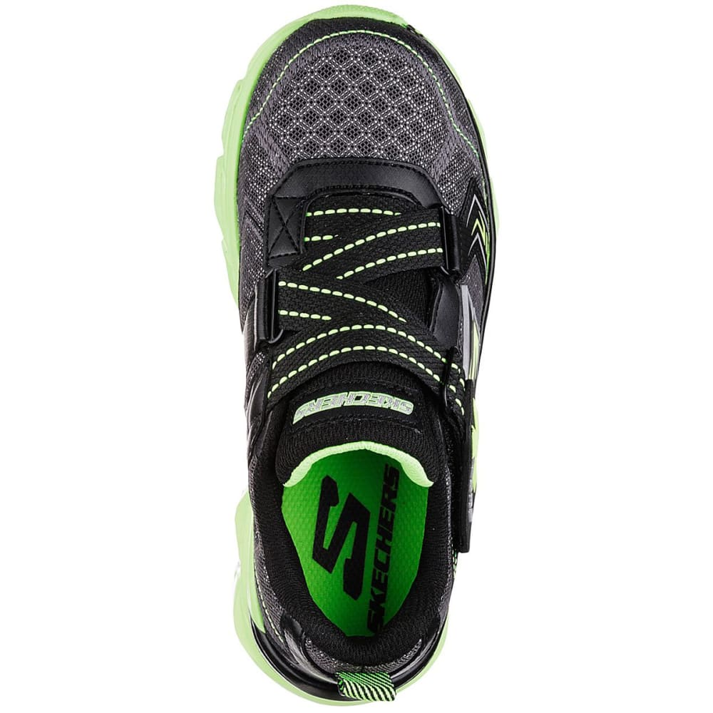 SKECHERS Boys' Advance II Sneakers, Charcoal/Lime - CHARCOAL