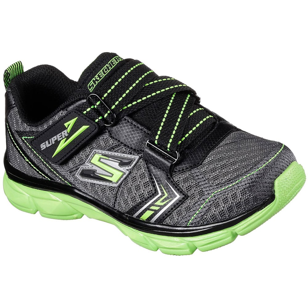 SKECHERS Boys' Advance II Sneakers, Charcoal/Lime 1