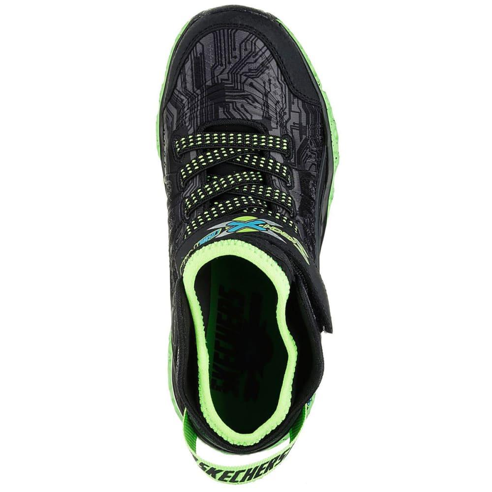 SKECHERS Boys' Cosmic Foam High-Top Sneakers, Black/Lime - BLACK