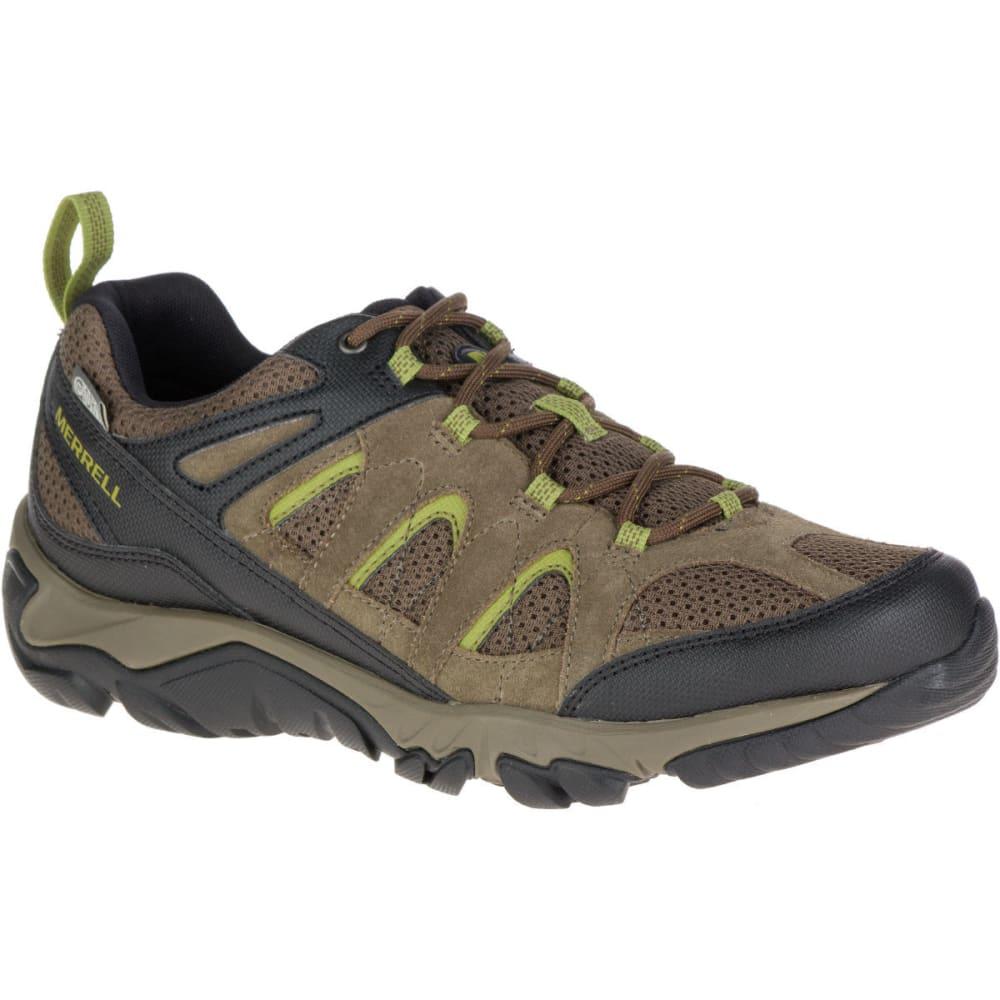 Merrell Men's Outmost Ventilator Waterproof Hiking Shoes, Boulder - Black, 8