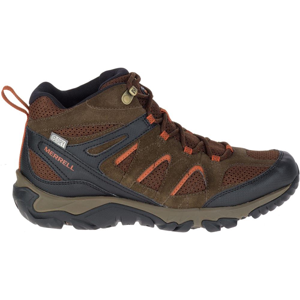 MERRELL Men's Outmost Mid Ventilator Waterproof Hiking Boots, Slate Black - BLACK